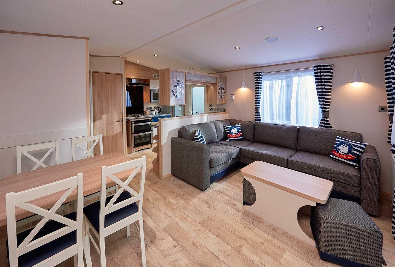ABI Platinum caravan lounge and kitchen
