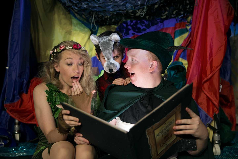 Kids enjoying a magical story