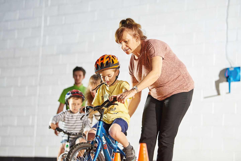Child riding on a bike
