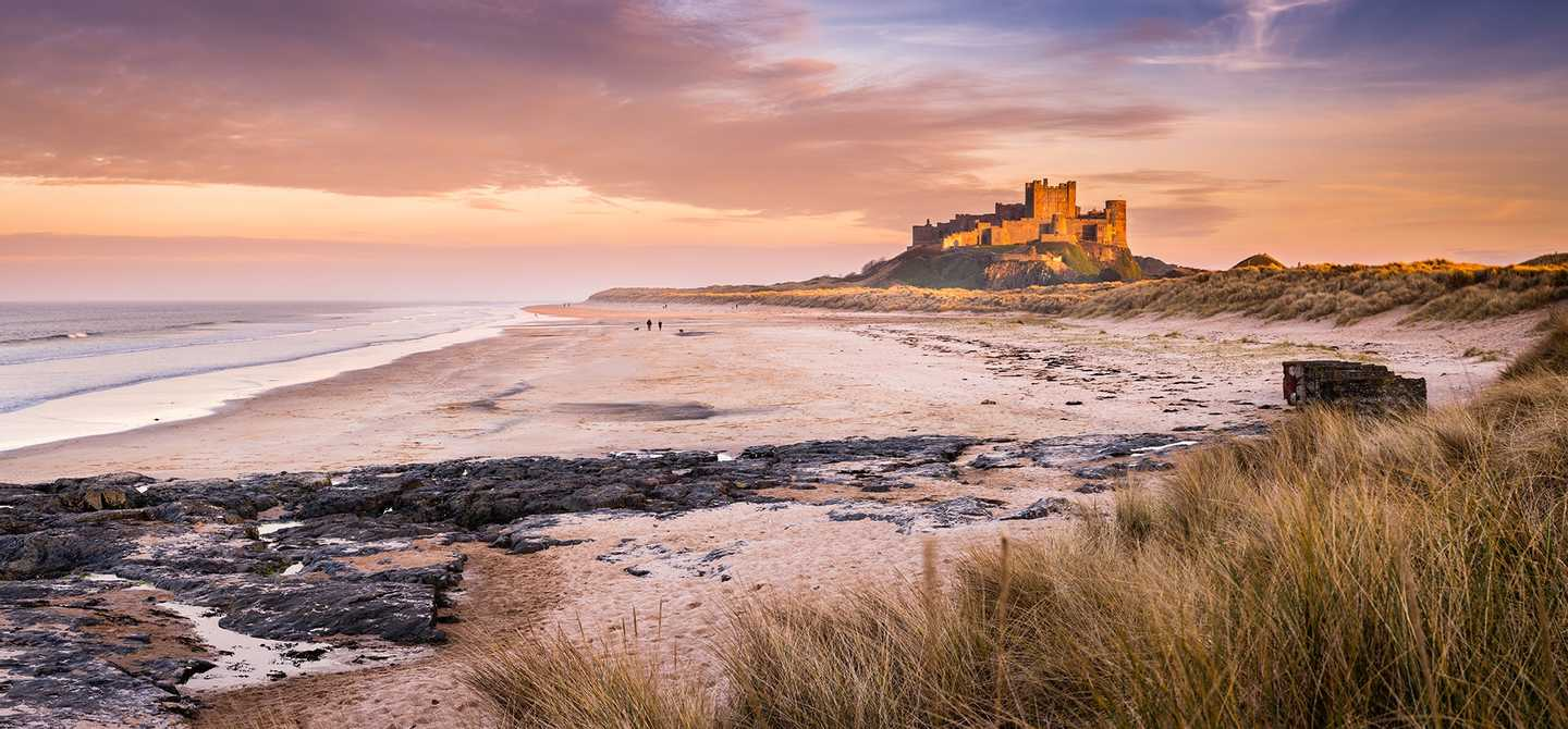 See dramatic views from Bamburgh Castle