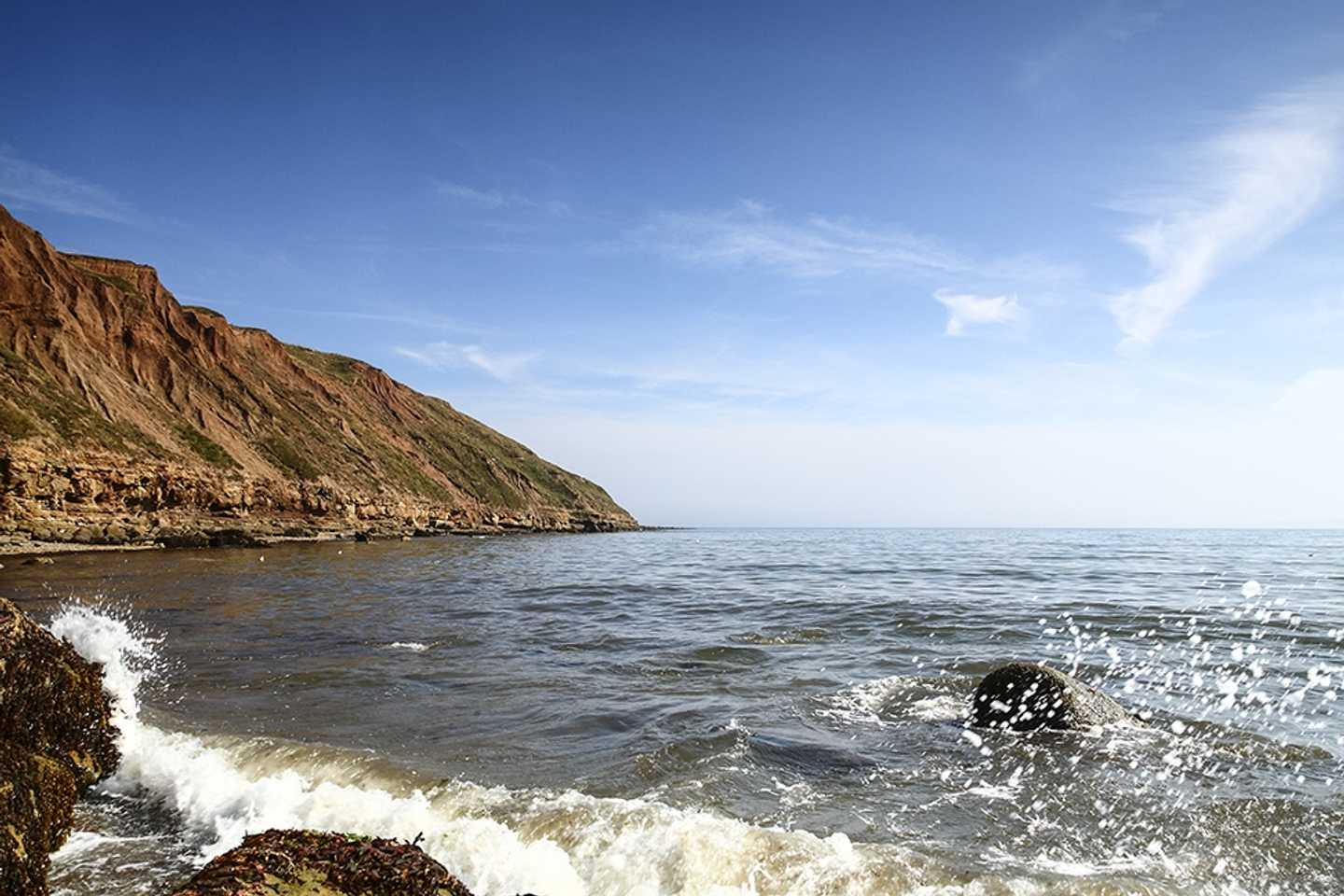 Panoramic view of Filey seafront