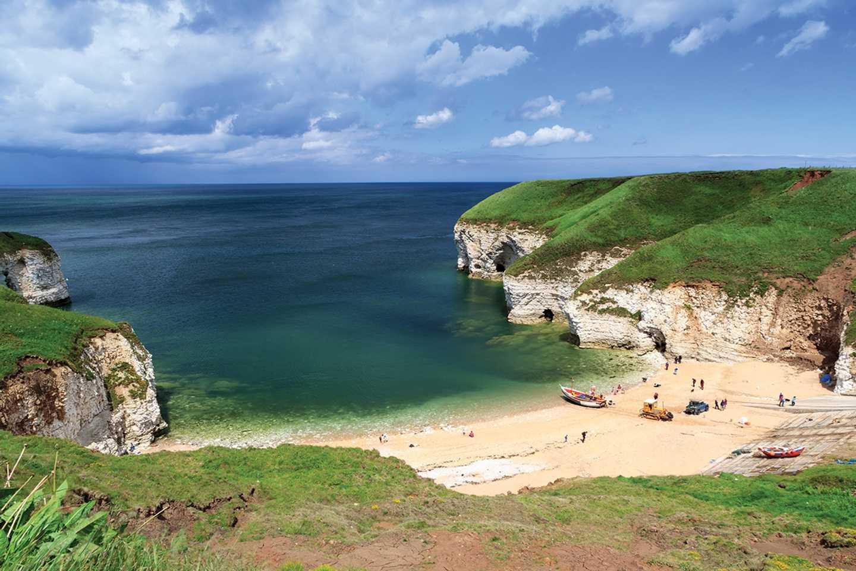 Flamborough beach near Bridlington in Yorkshire
