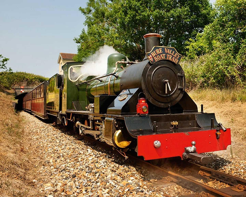 Steam locomotive at Bure Valley Railway
