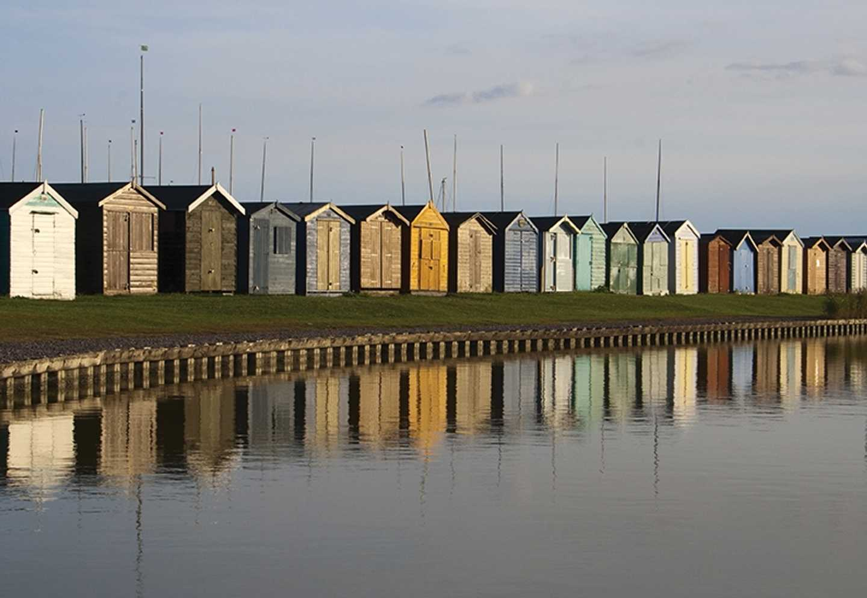 A row of beach huts in Brightlingsea