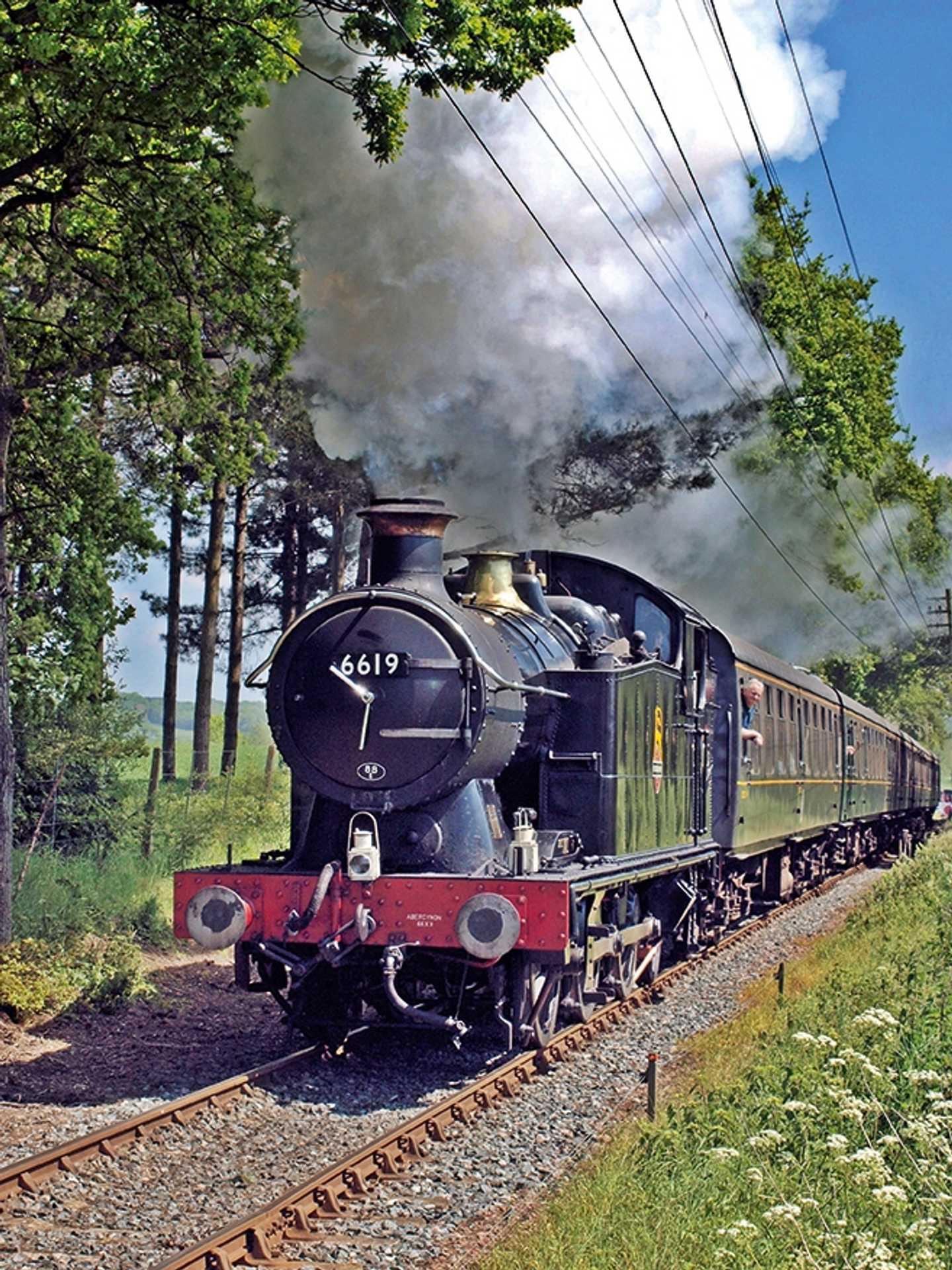 Train on the railway