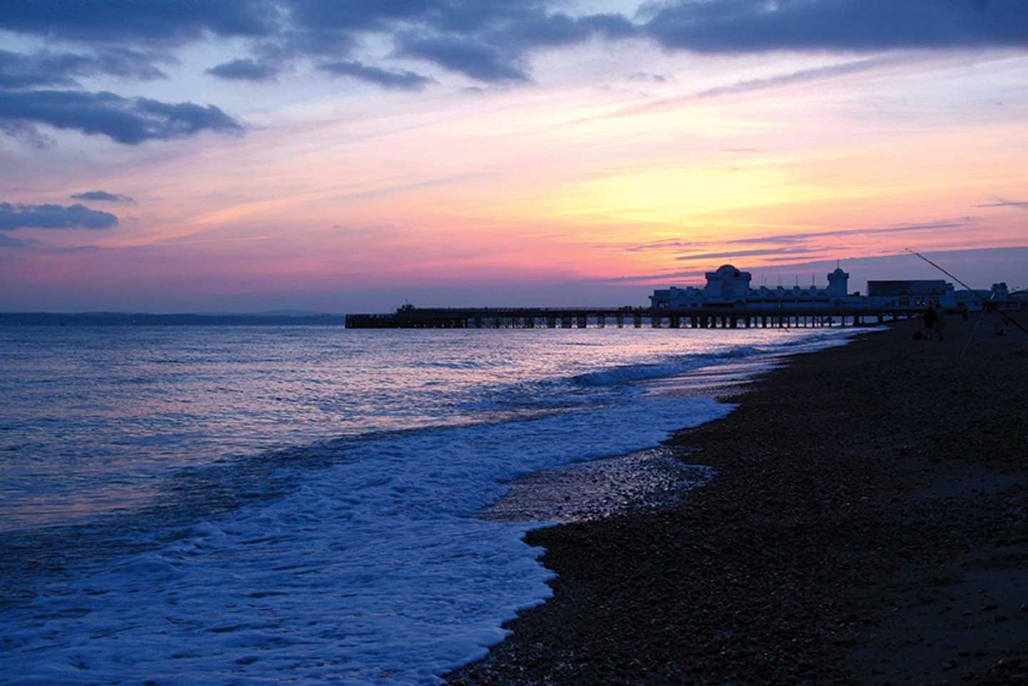 Bognor Regis Beach at sunset
