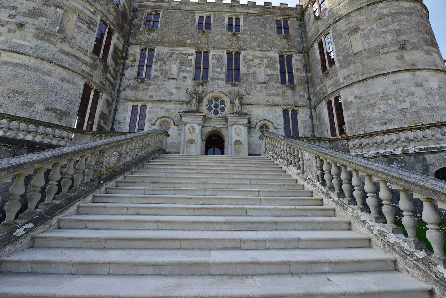 The steps leading up to Lulworth Castle