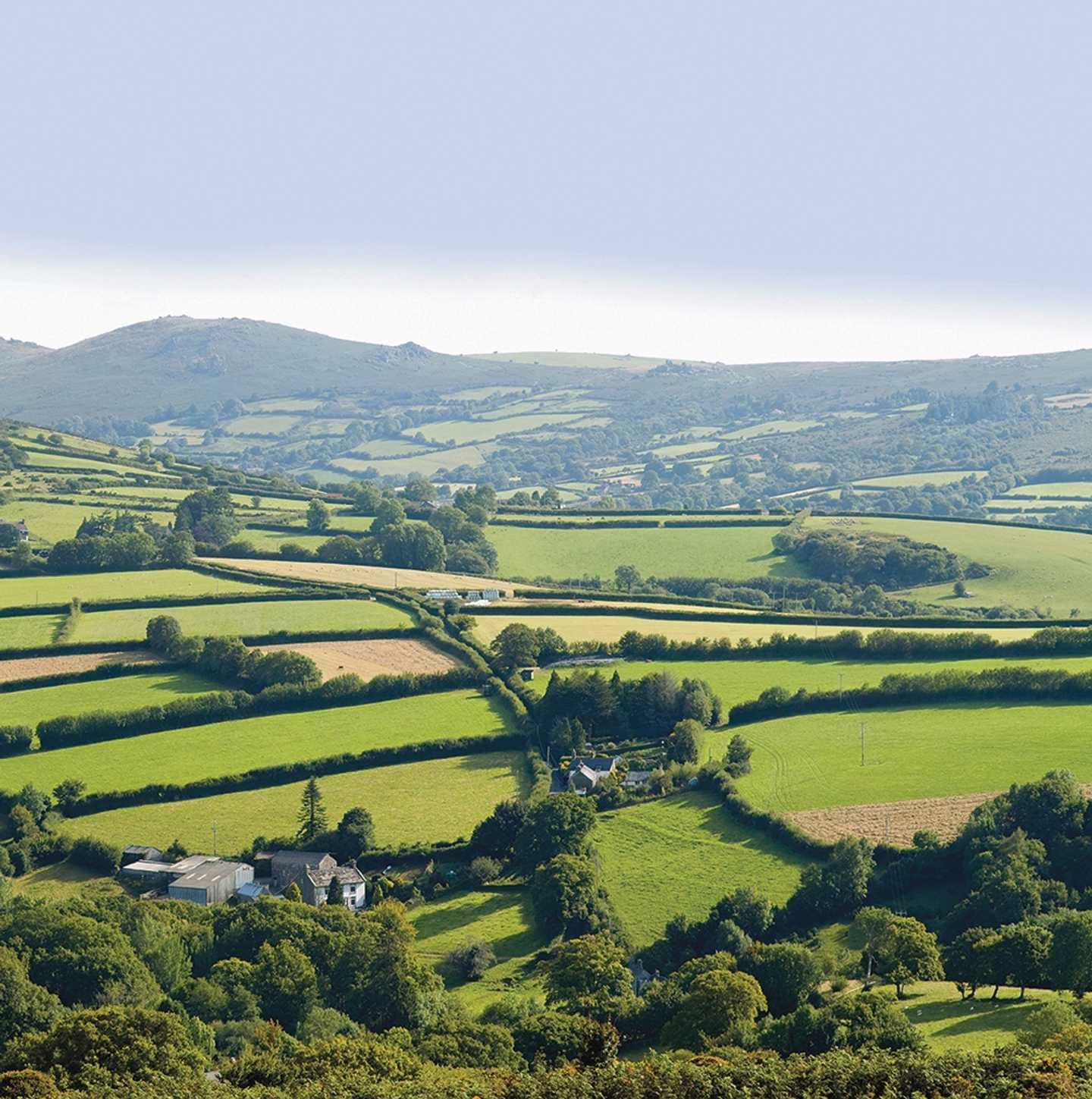 Dartmoor's national park from the sky