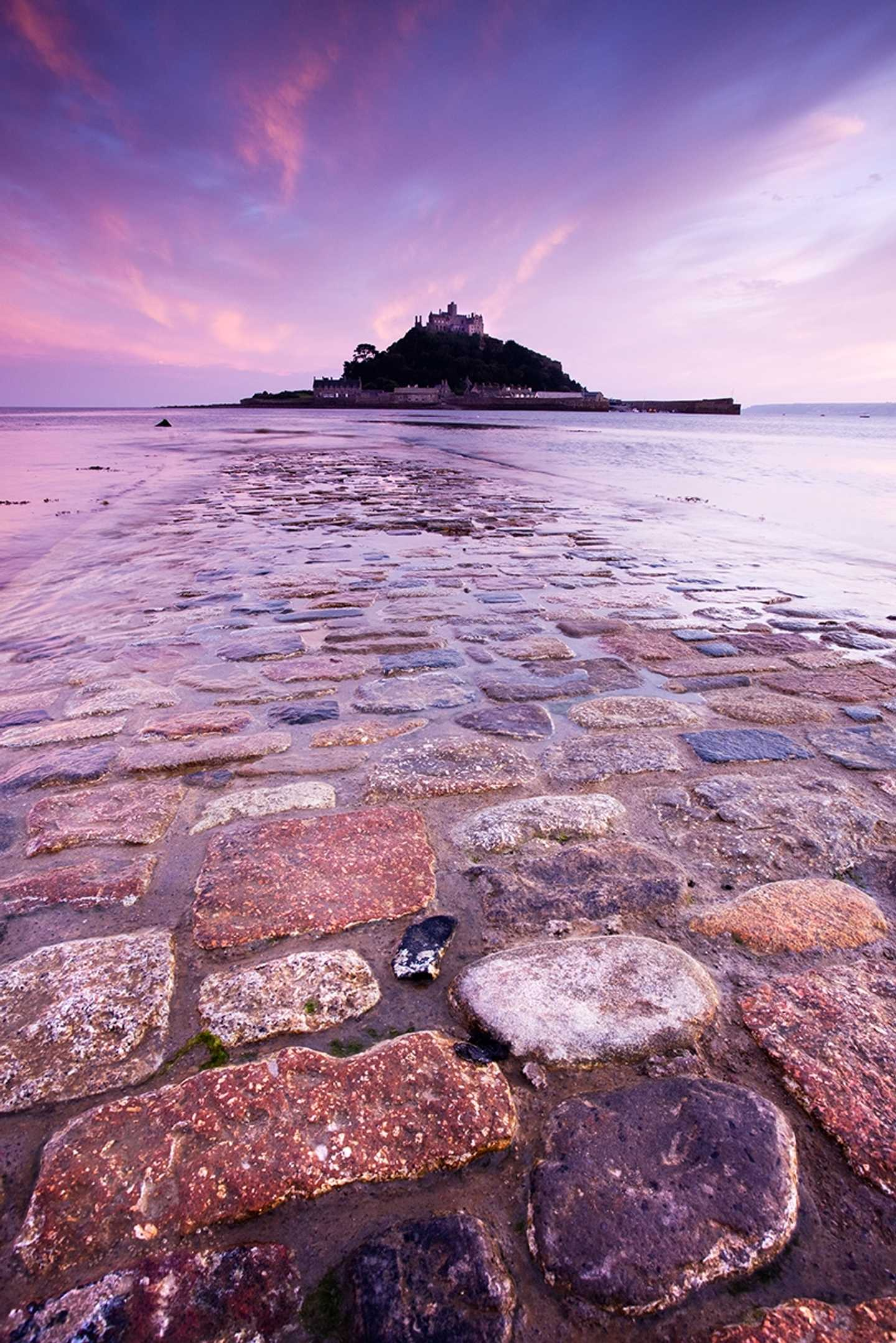 A view of St Michael's Mount from the beach