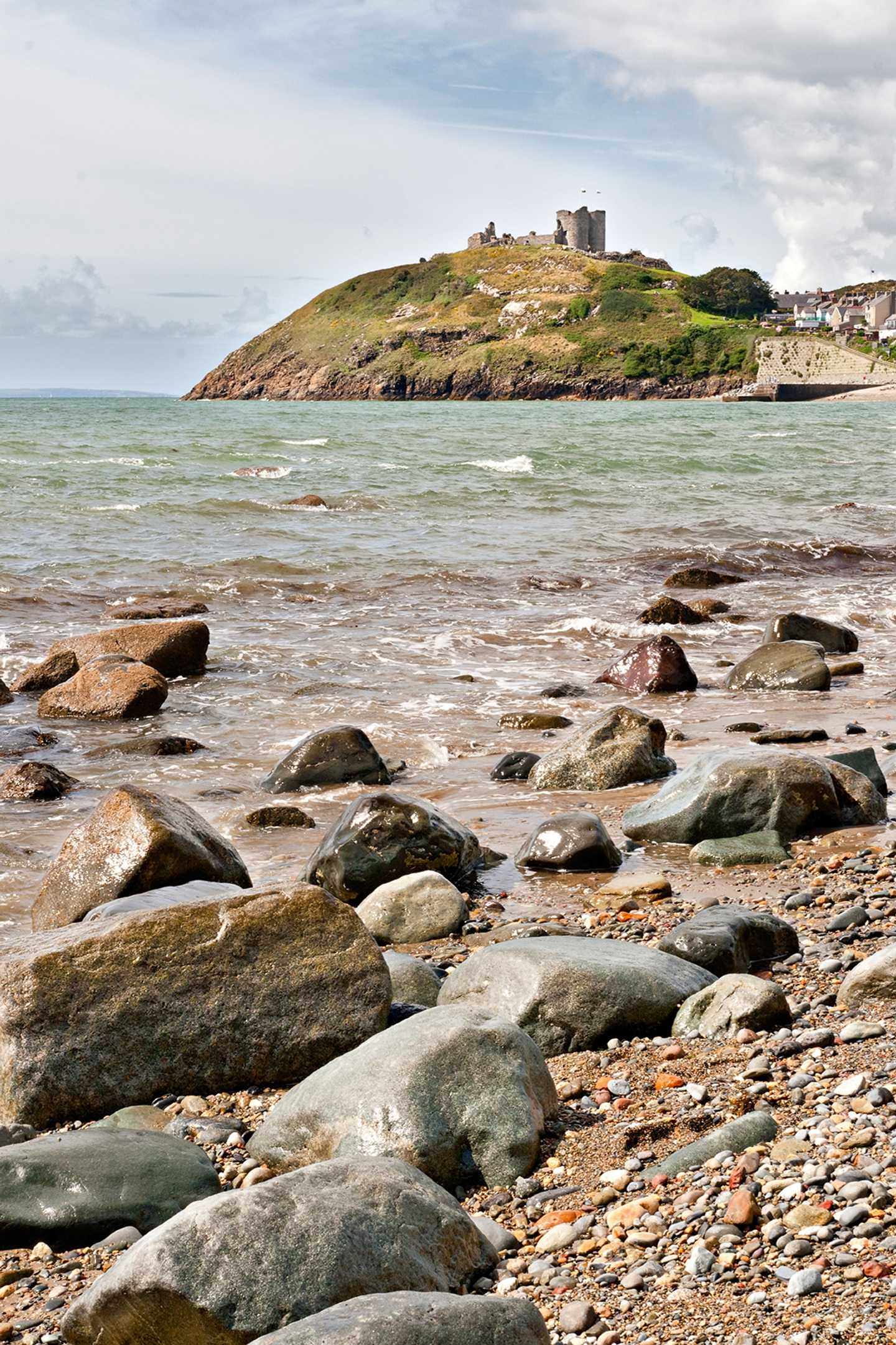 Criccieth Castle from afar