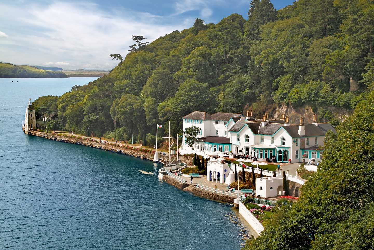 A picturesque view of Portmeirion
