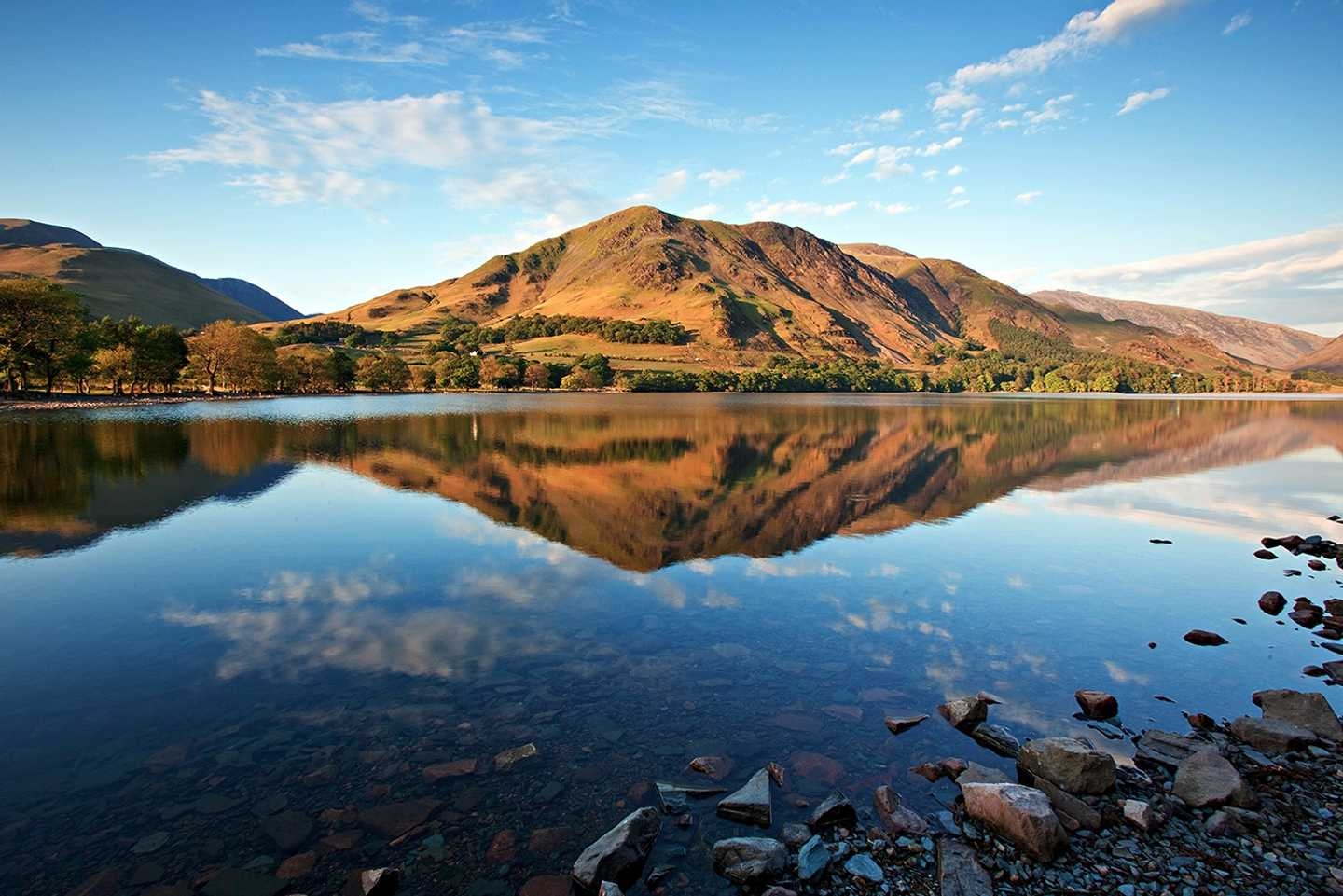 Buttermere Lake reflection at sunrise
