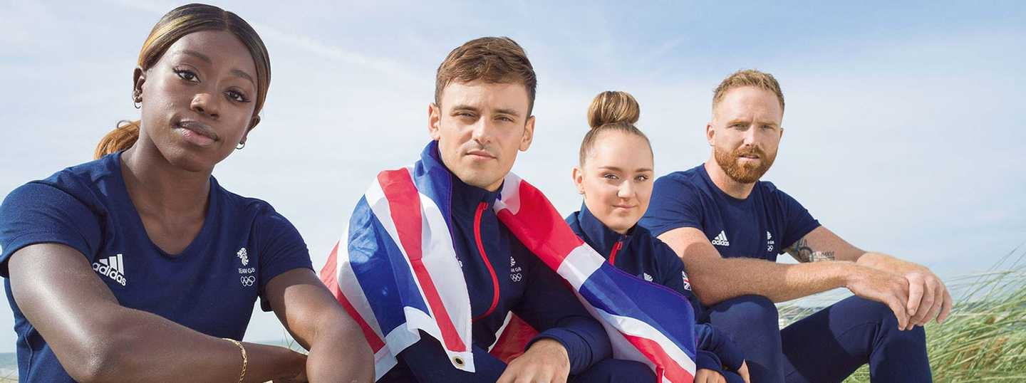 Four of the Team GB ambassadors