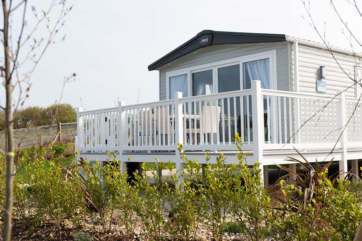Representation of a Lakeside Platinum with decking