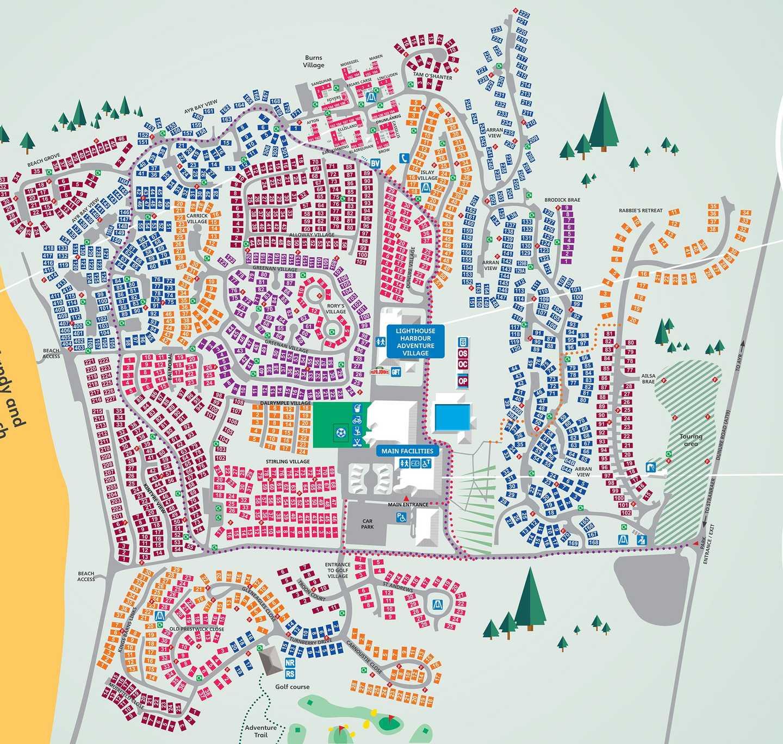 Map of Craig Tara