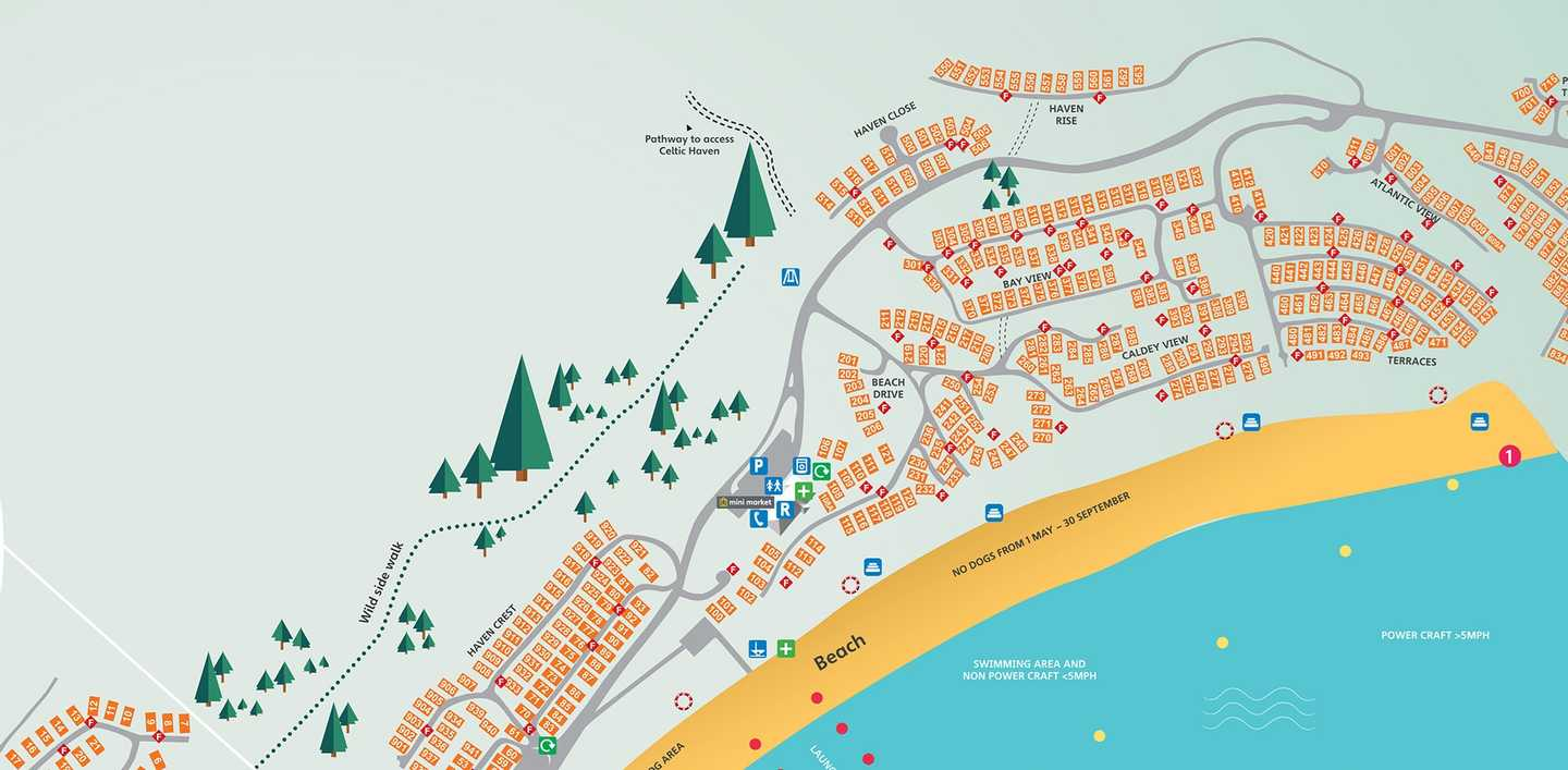 Map of Lydstep Beach