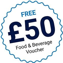 £50 food and drink voucher