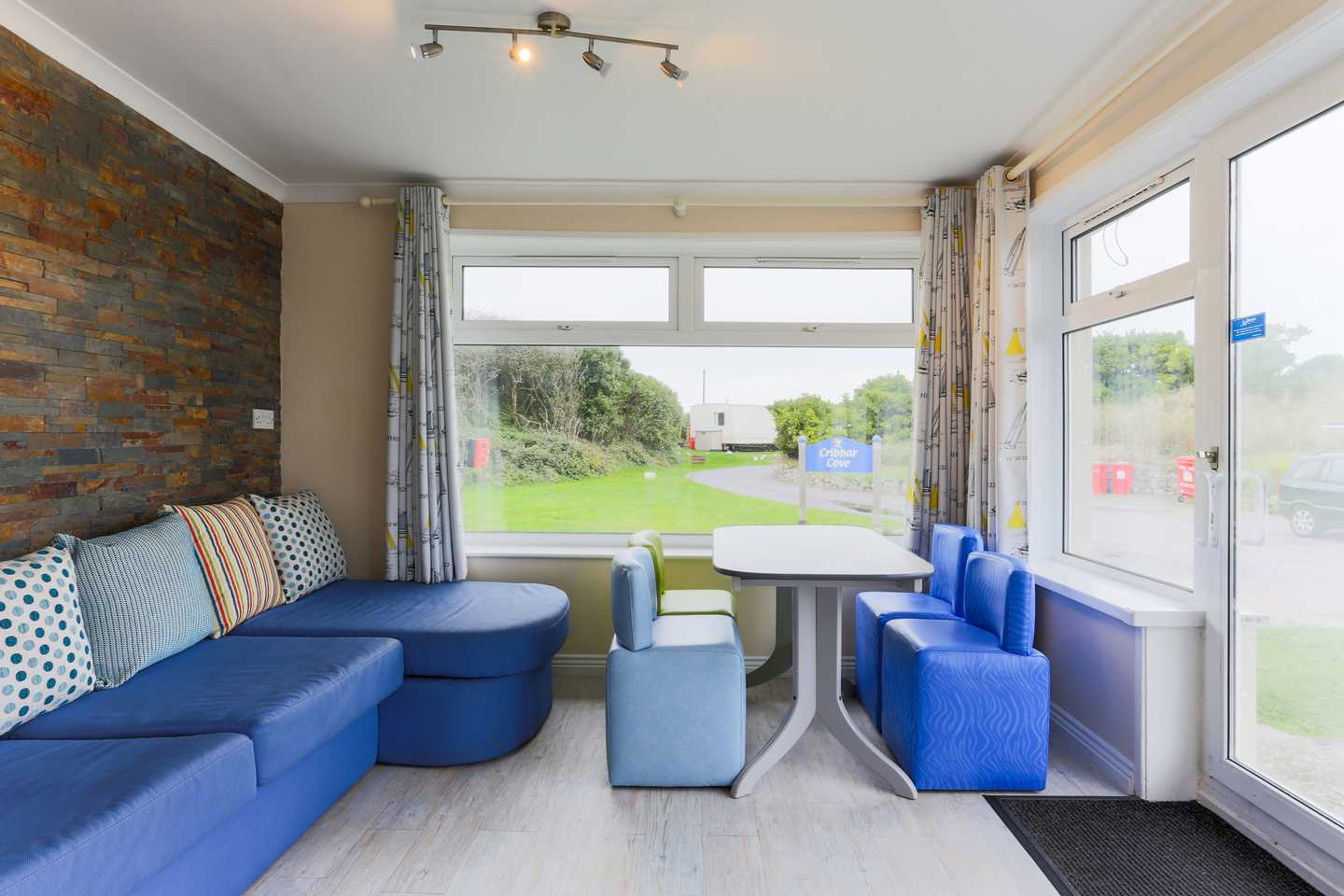 Interior of a Comfort Plus chalet at Perran Sands