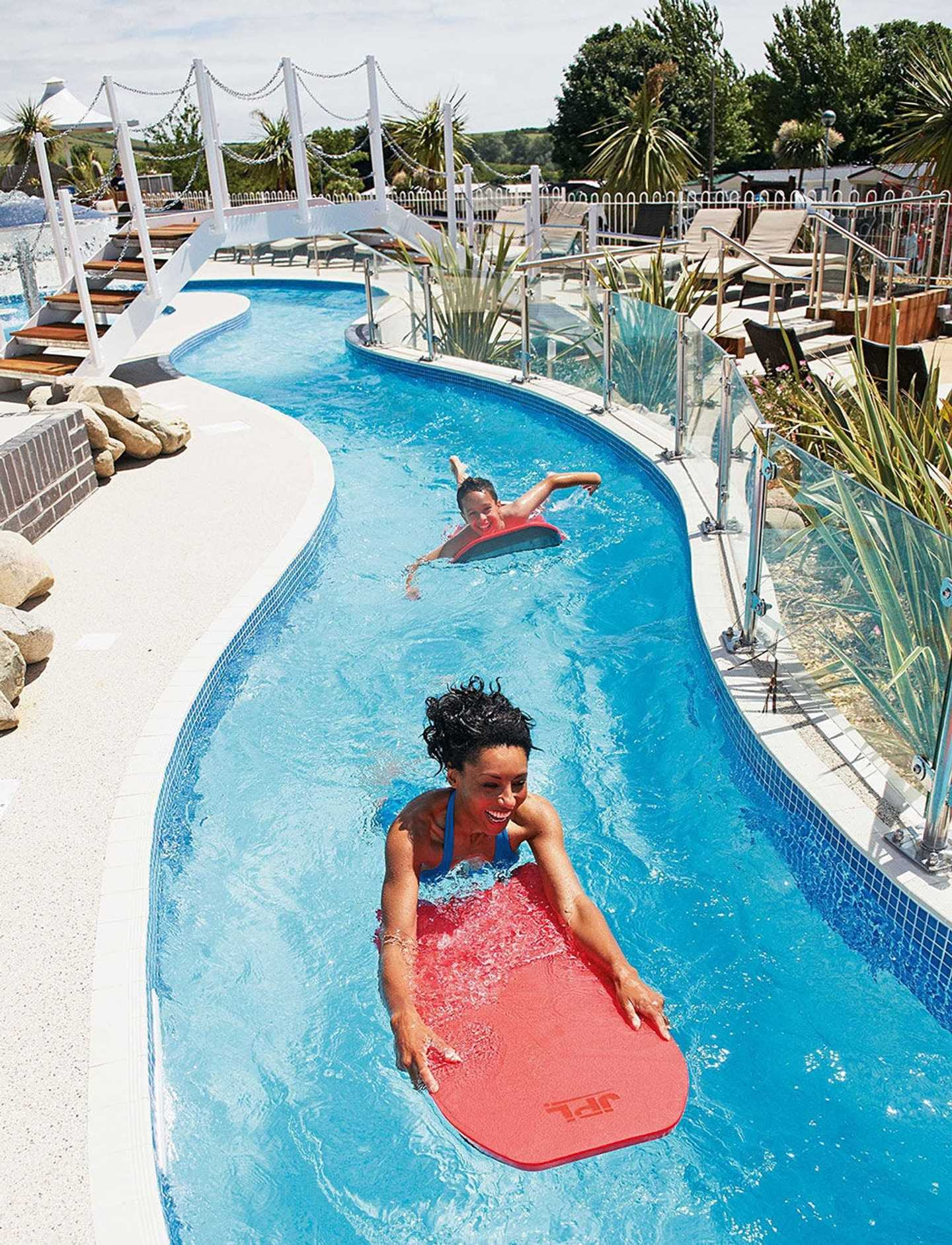 Guests drifting down the lazy river