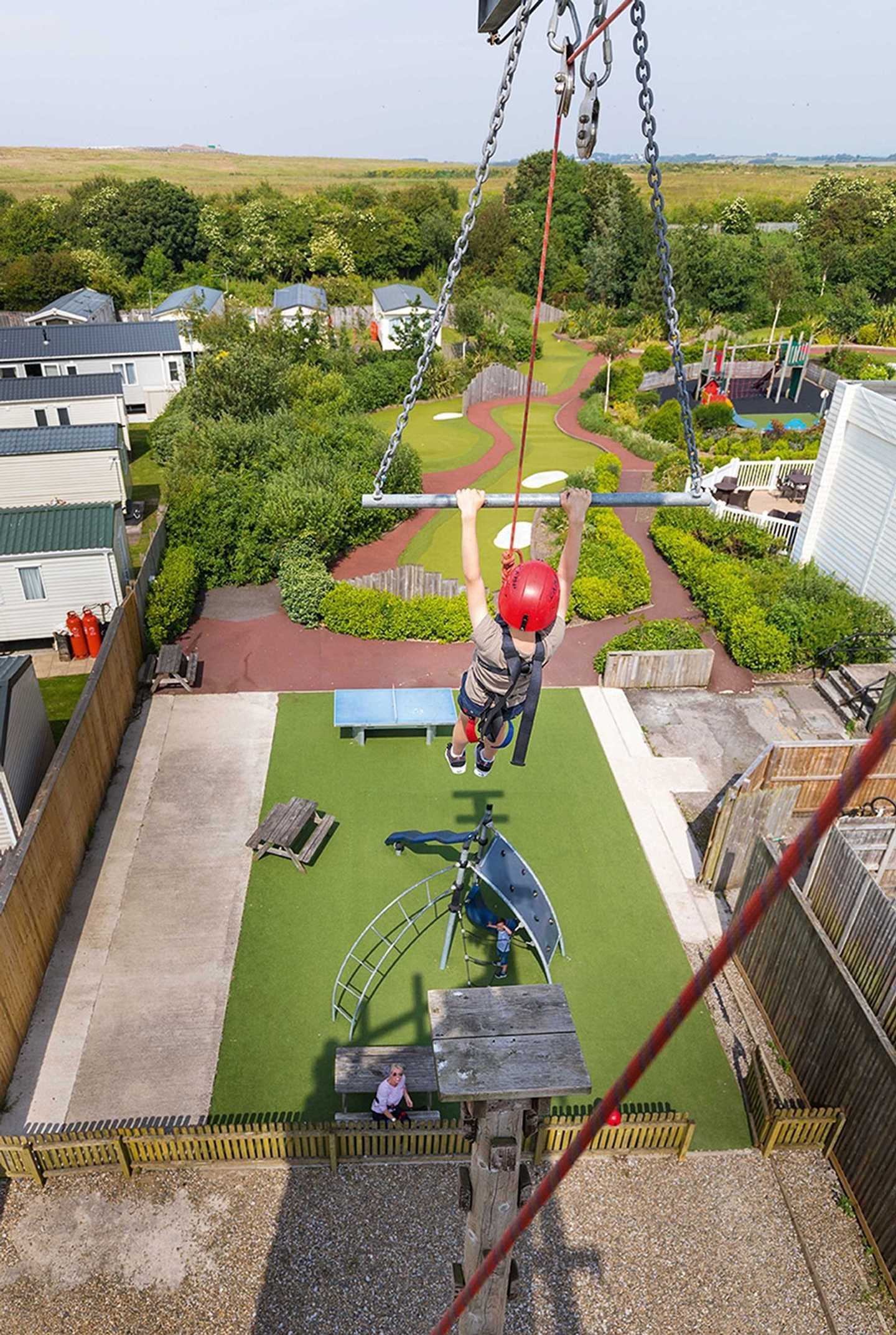 A guest on a Zip Wire