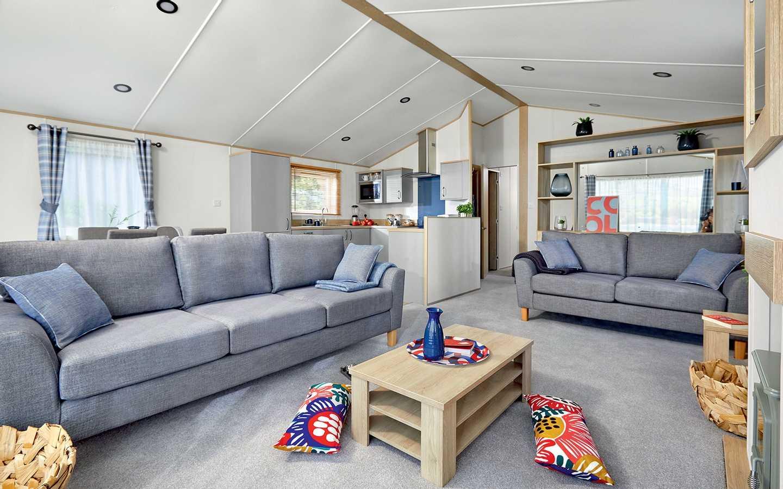 Luxury Lodge lounge at Elterwater