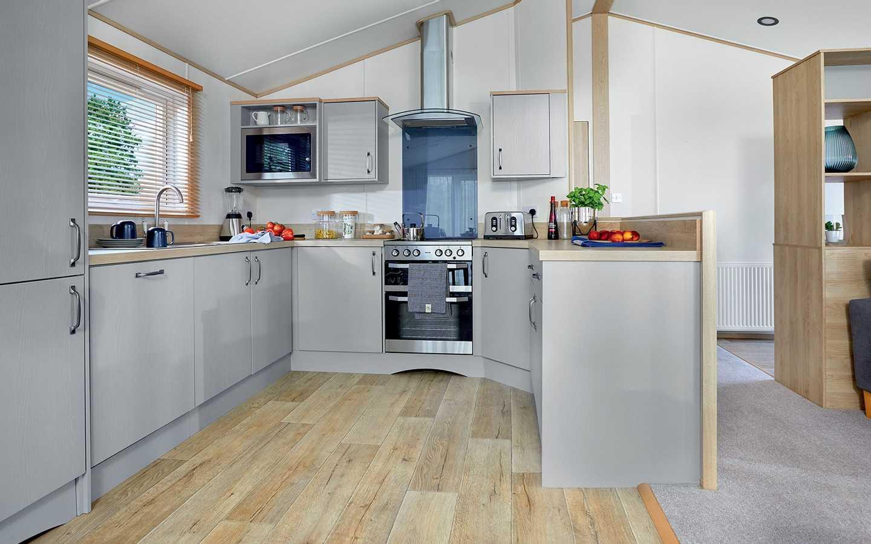 Luxury Lodge kitchen at Elterwater