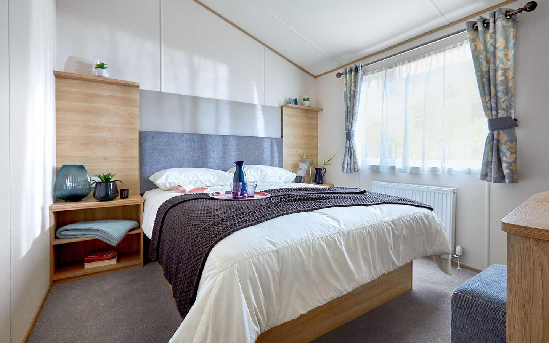 Luxury Lodge bedroom at Elterwater