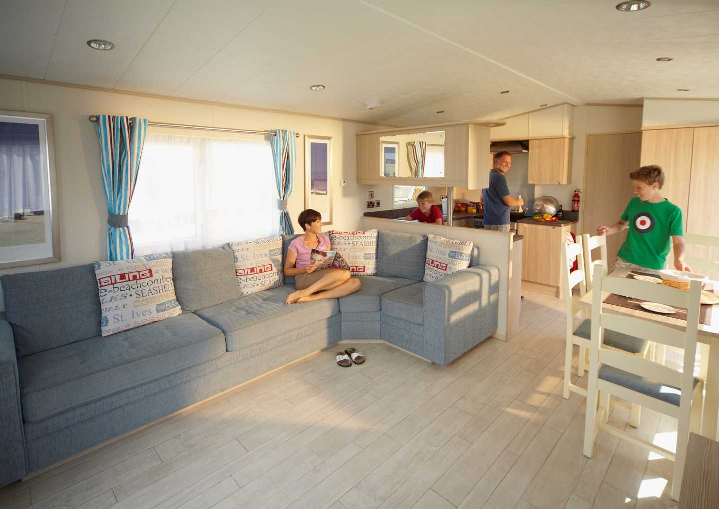 Interior of a Prestige accommodation grade at Haven