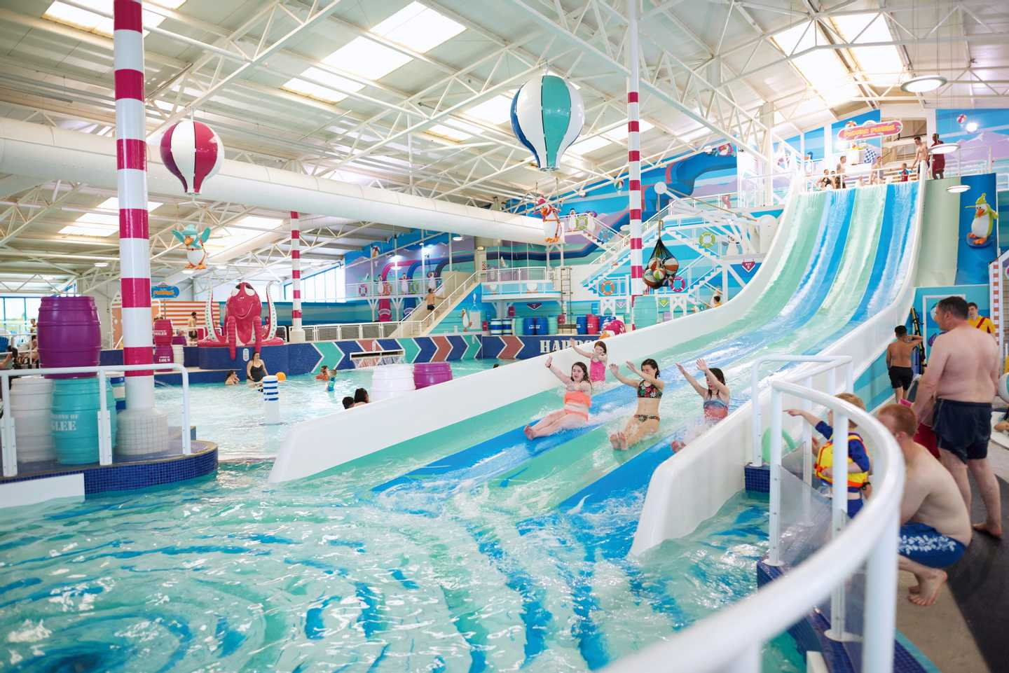 Pool with loads of slides and water facilities