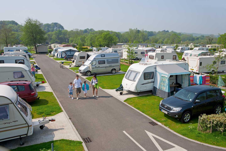Touring and camping area at Kiln Park