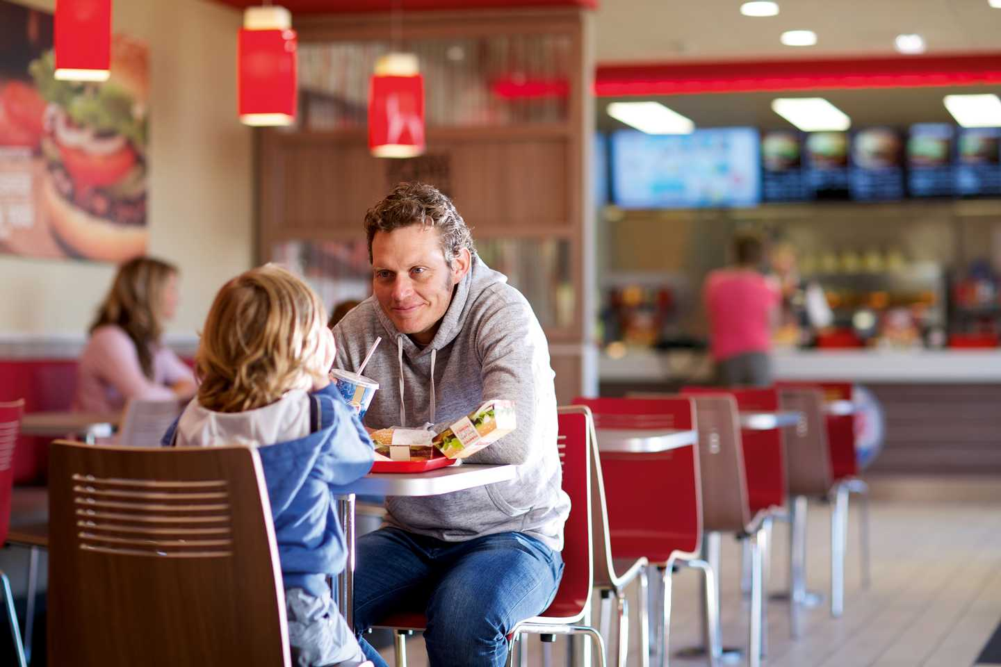 A mother and child in BURGER KING®