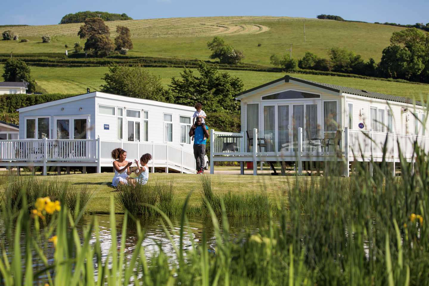 A view of some of our caravans in our Otters Lake development at Doniford Bay Holiday Park