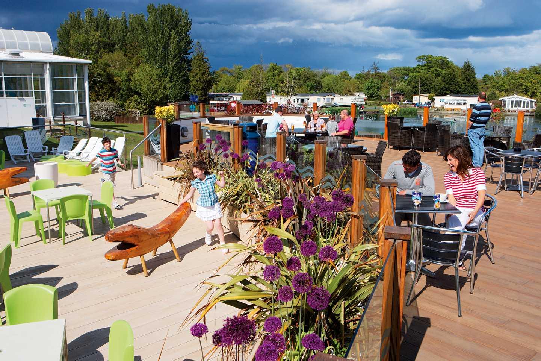 Guests enjoying the Mash and Barrel terrace