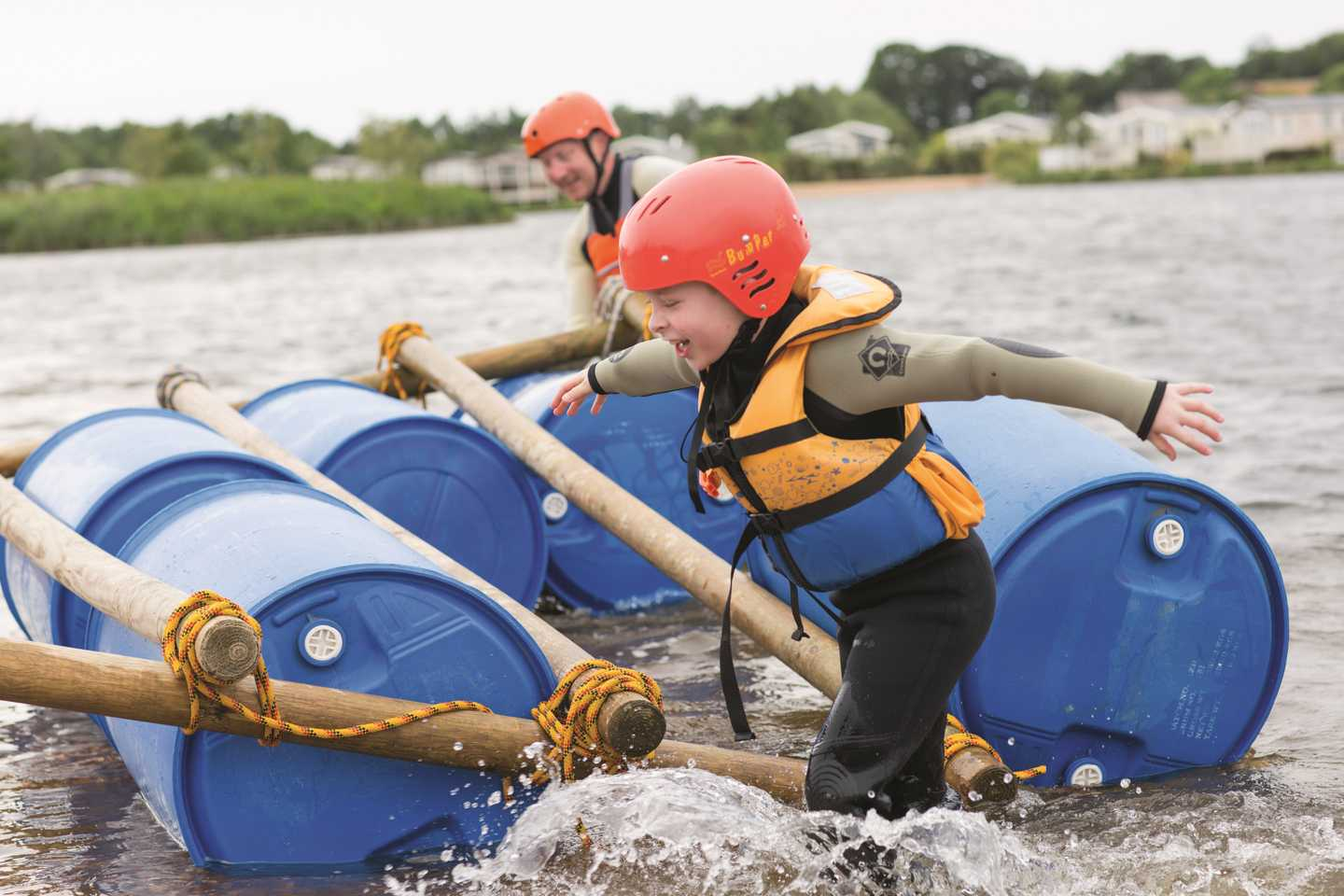 Raft building at Haven