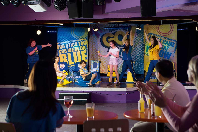 Guests enjoying the family fun shows in the ShowBar