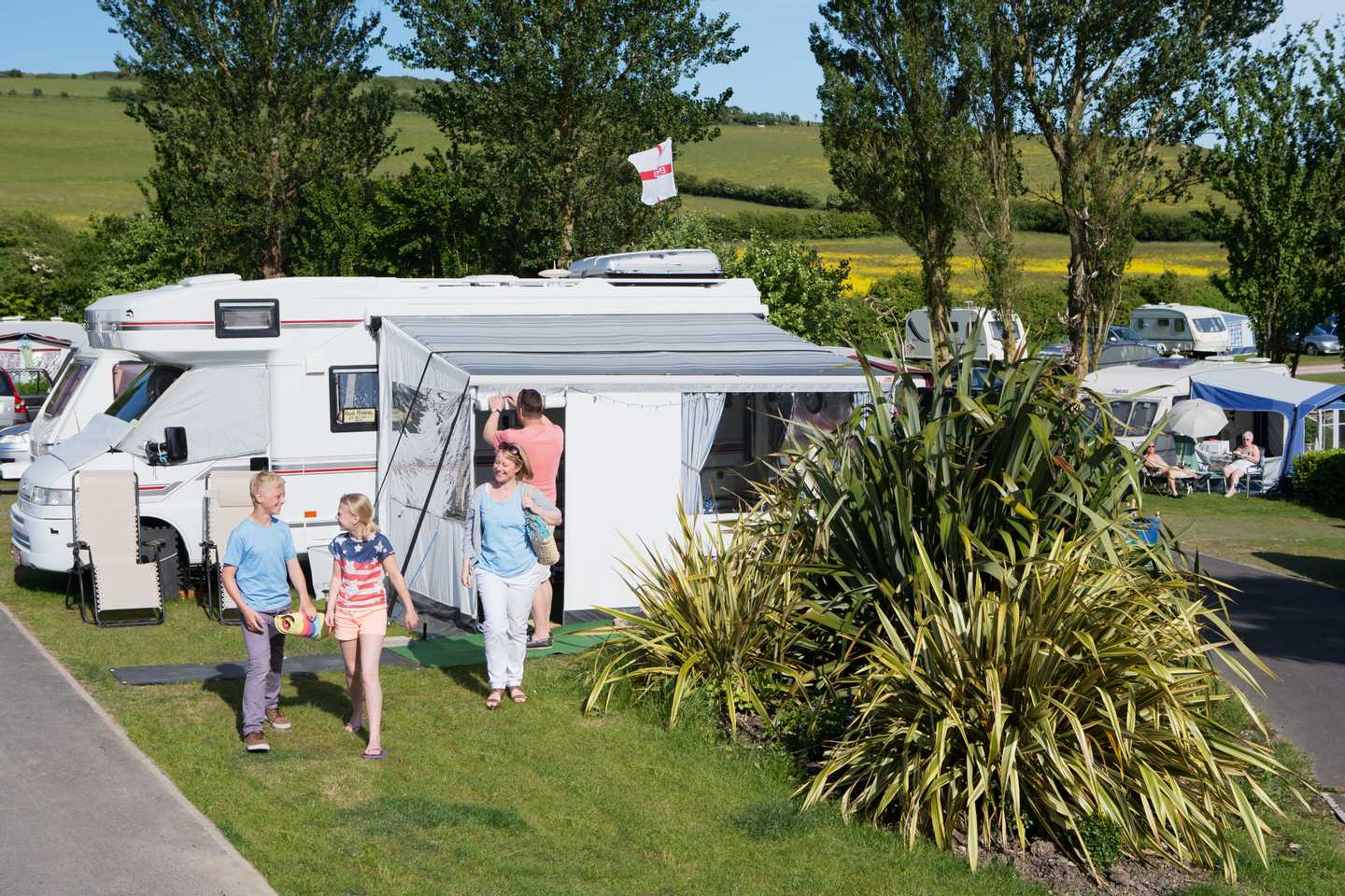 Touring and camping area at Seaview