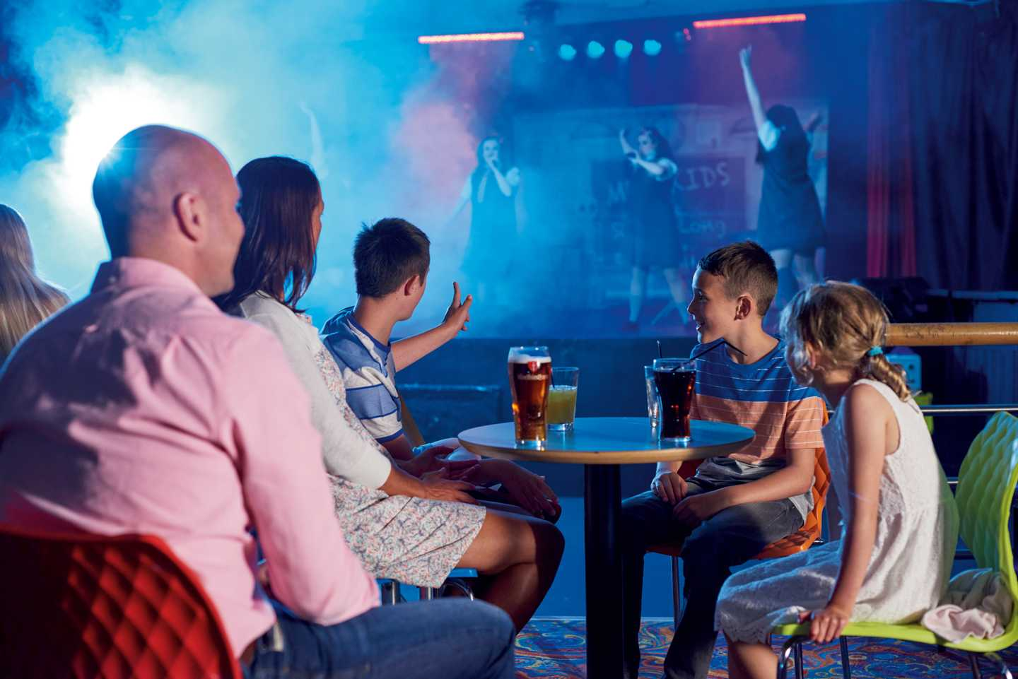 Guests watching a show in the ShowBar