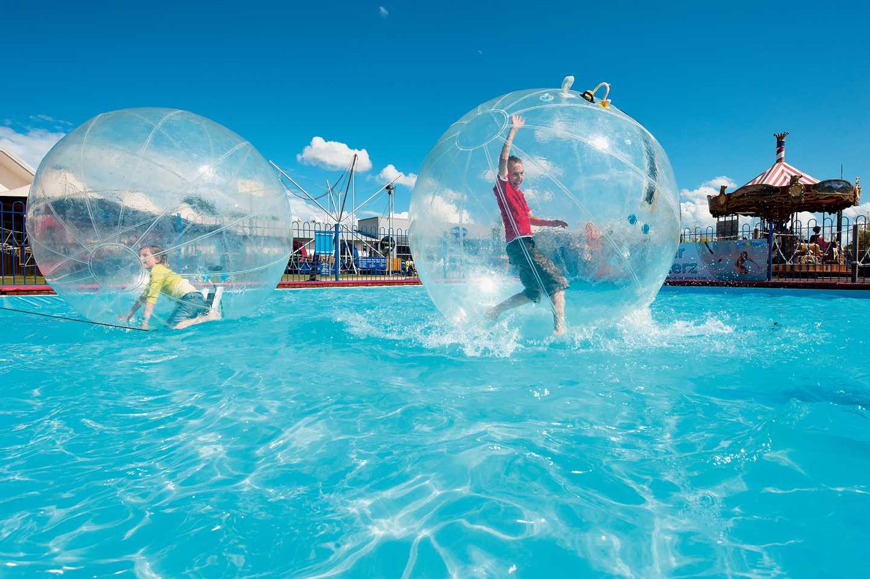 Kids enjoying Water Walkerz activities