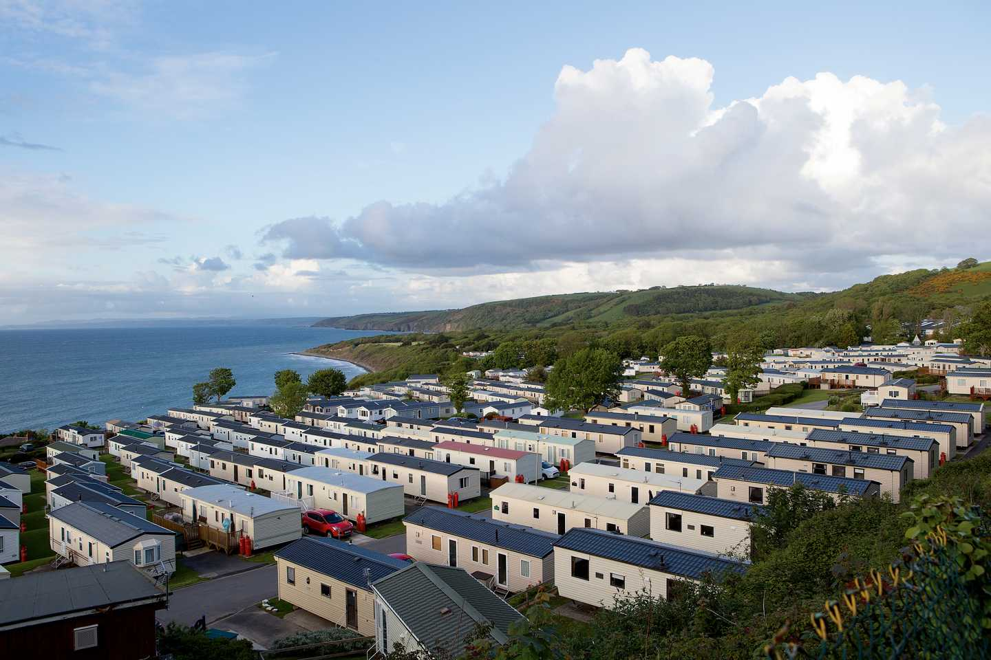Rows of holiday homes at Quay West