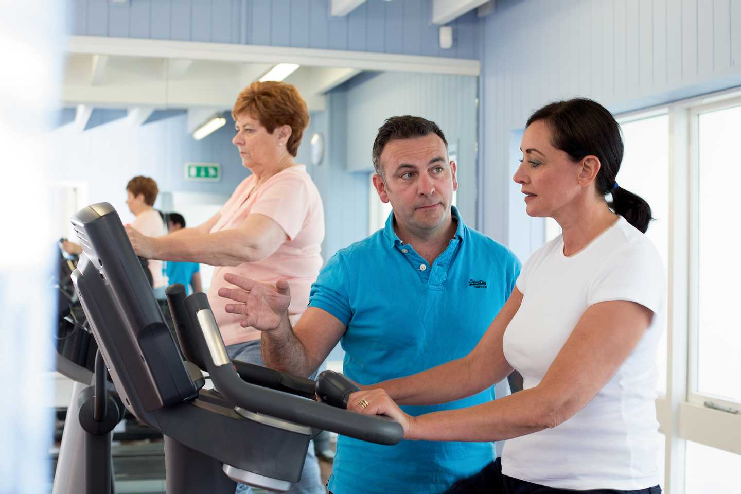 A gym induction in the owners' gym