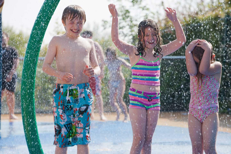 Children playing in the SplashZone
