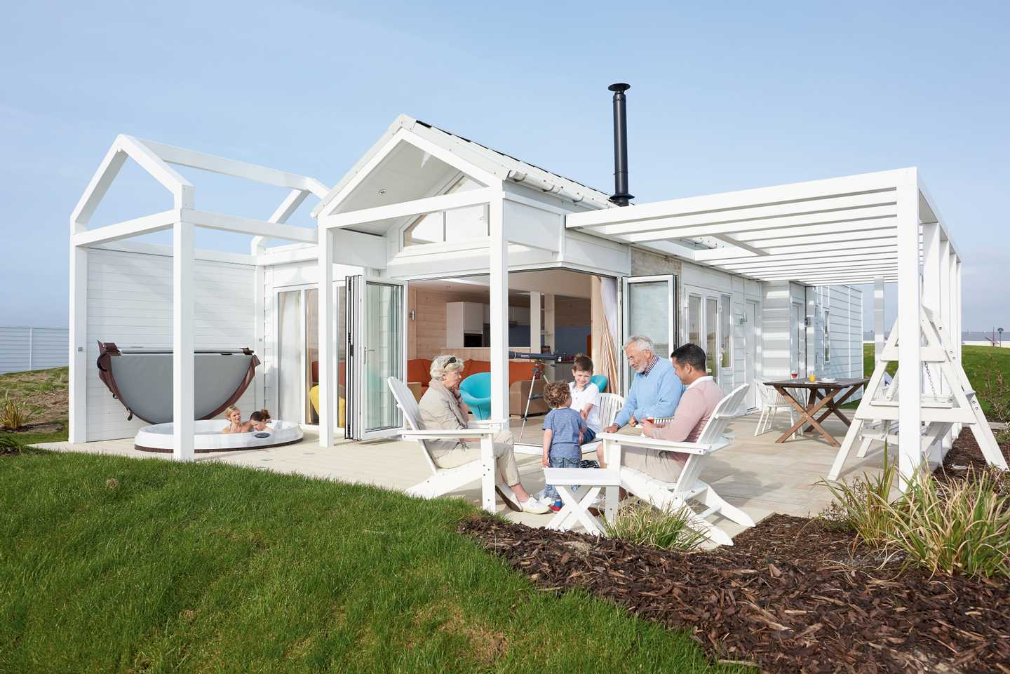 Guests staying in a Beach House at Haven