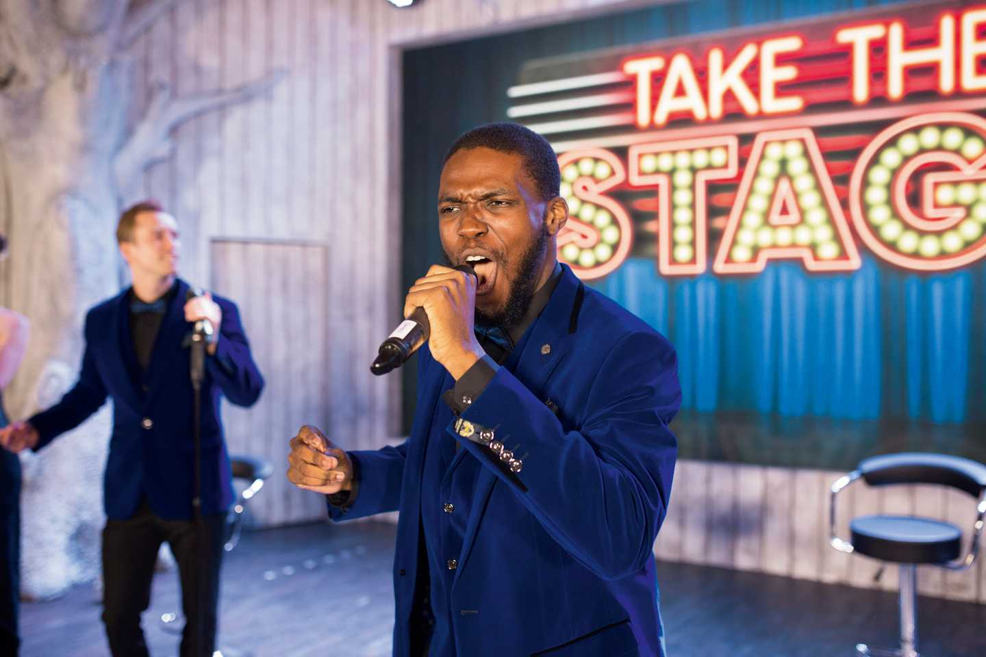 Man performing in Take the Stage