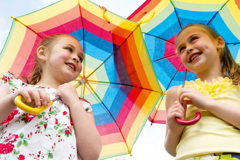 Children with their umbrellas