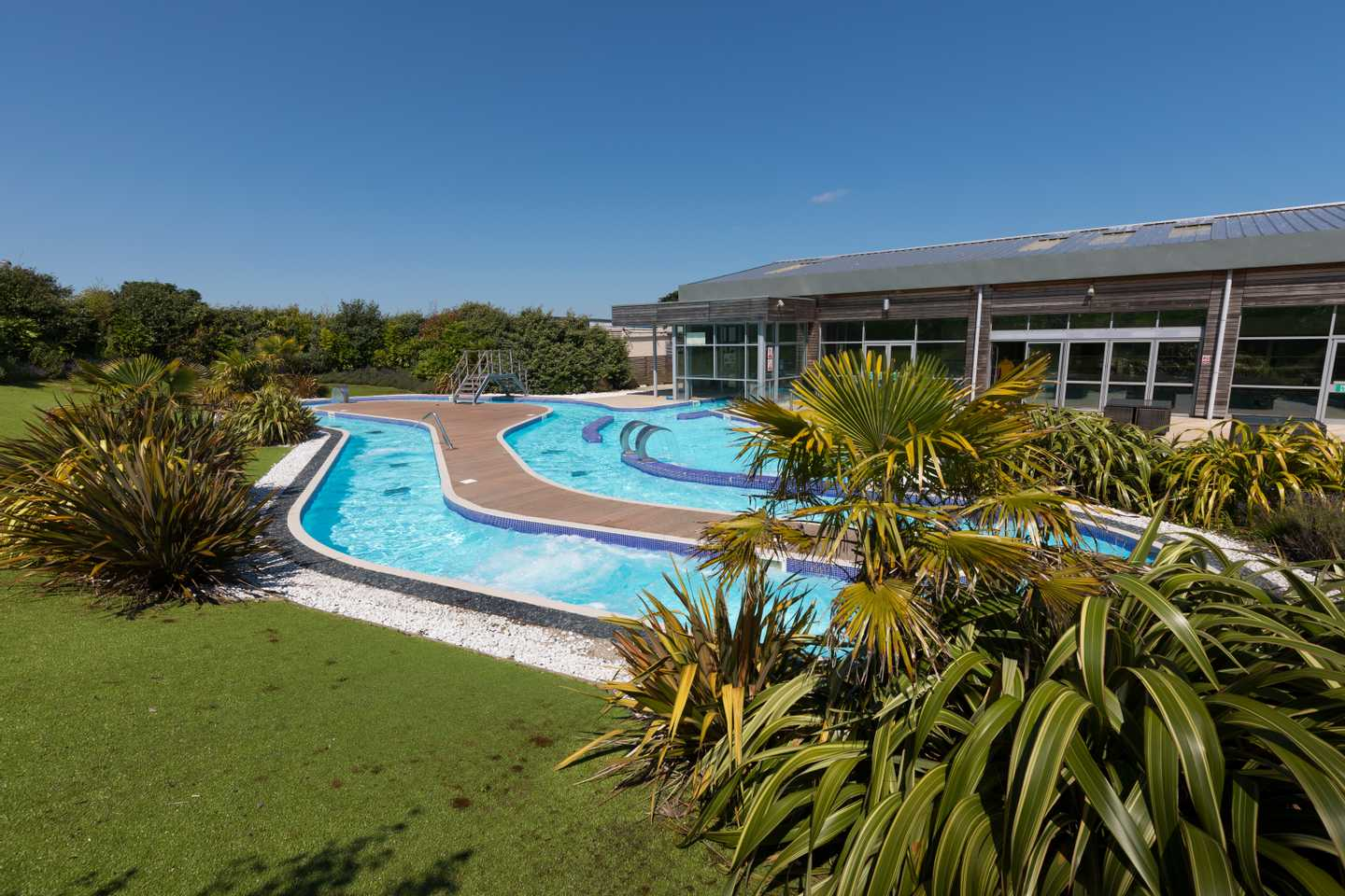 The lazy river at Reighton Sands