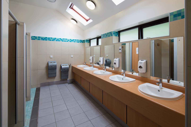 The touring washblock interior