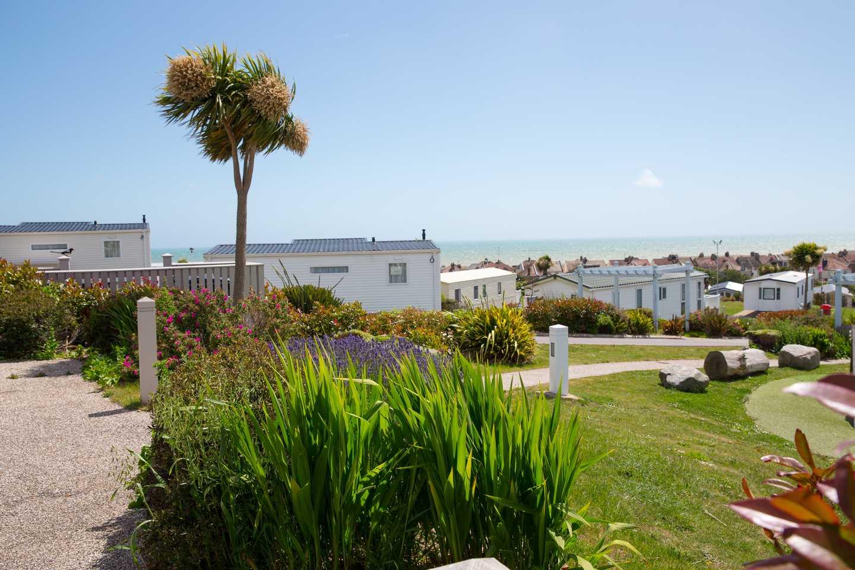 Sea view village at Combe Haven