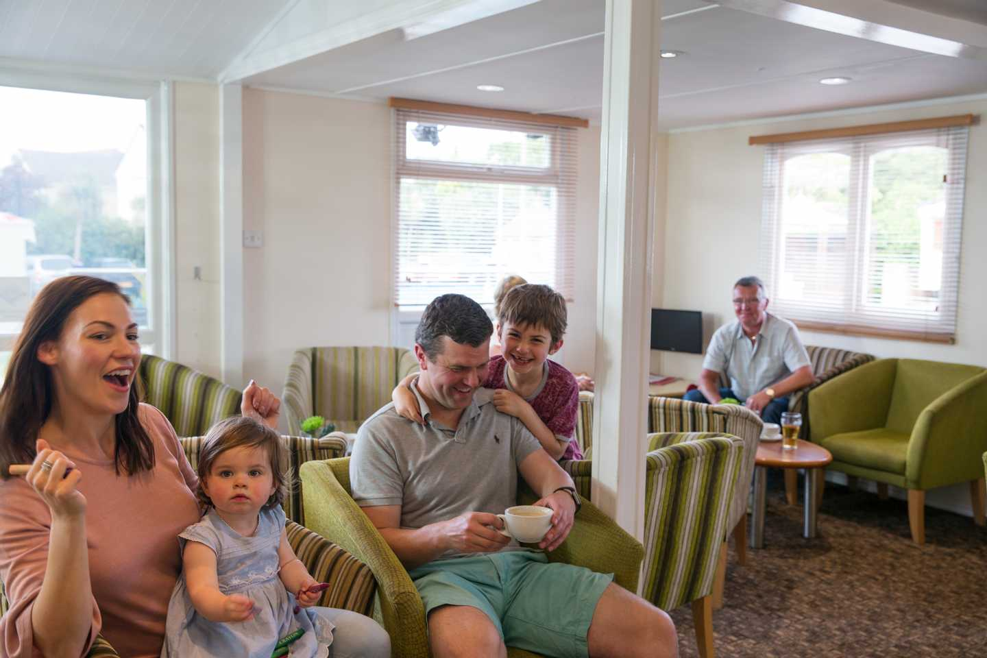 Owners relaxing in the Owners' Lounge at Combe Haven