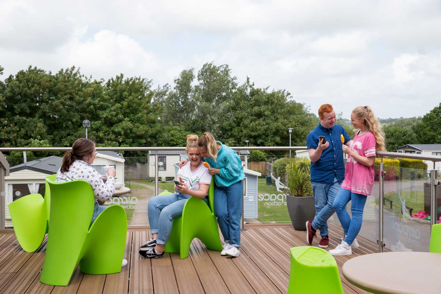 Guests sitting on the Airspace terrace area