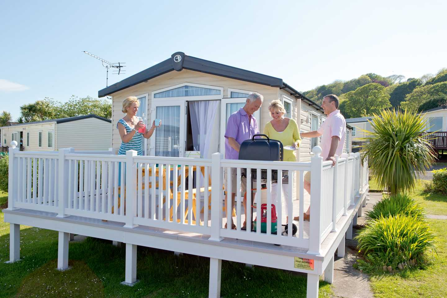Exterior of a holiday home with a veranda at Penally Court